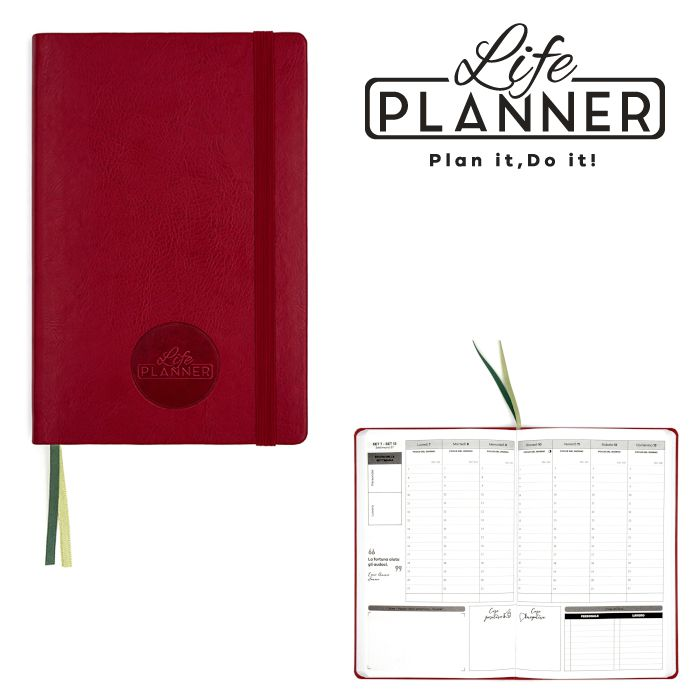 AGENDA A 12mesi Big 1pz Red Passion LIFE PLANNER