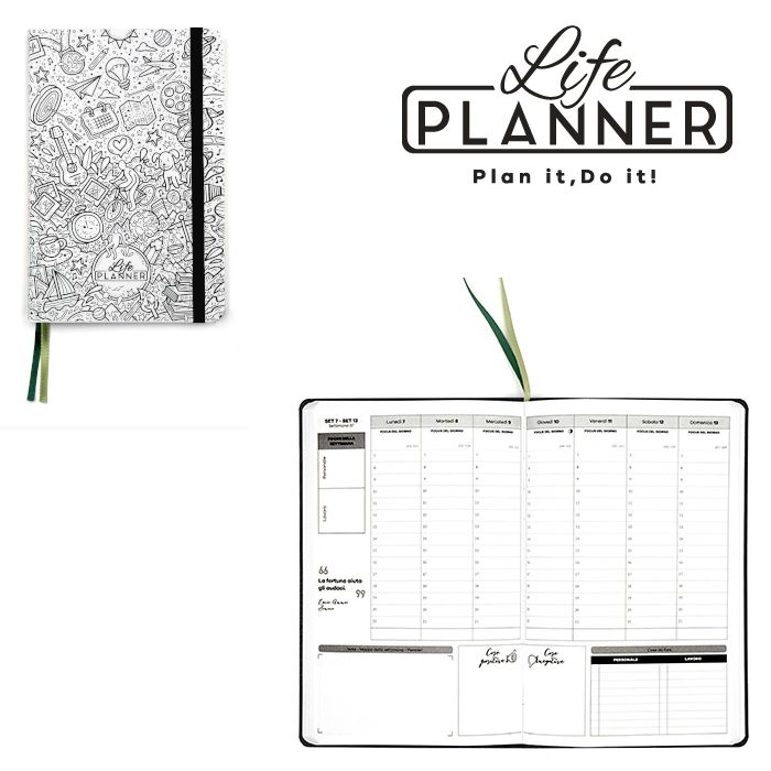 AGENDA A 12mesi Small 1pz Fra design Limited LIFE PLANNER