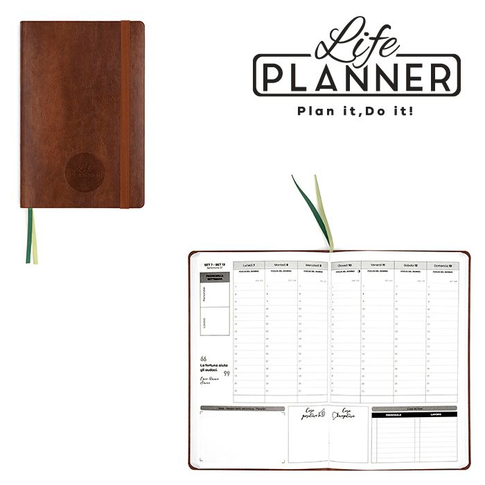 AGENDA A 12mesi Small 1pz Vintage Edition LIFE PLANNER