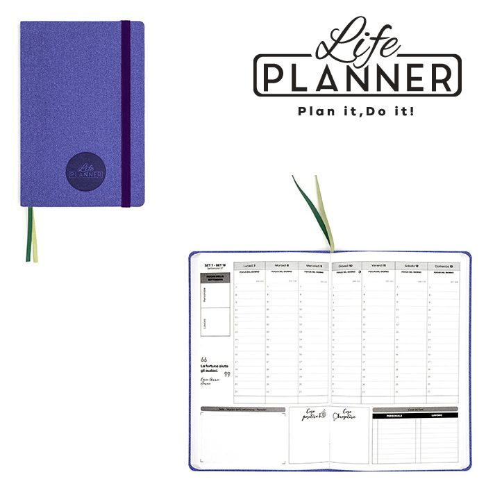 AGENDA A 12mesi Small 1pz Purple Violet LIFE PLANNER