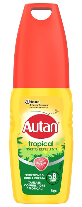 ANTIZANZARE AUTAN TROPICAL LOZ VAPO 100ml VERDE/GIALLO - C12