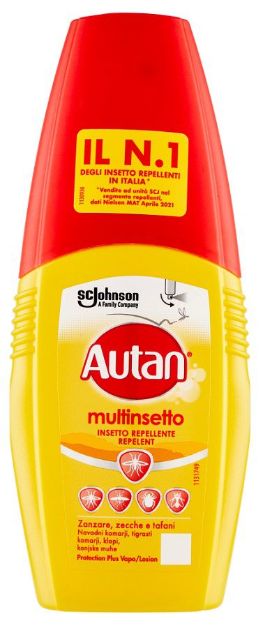 ANTIZANZARE AUTAN PLUS VAPO 100ml 1pz GIALLO - C12